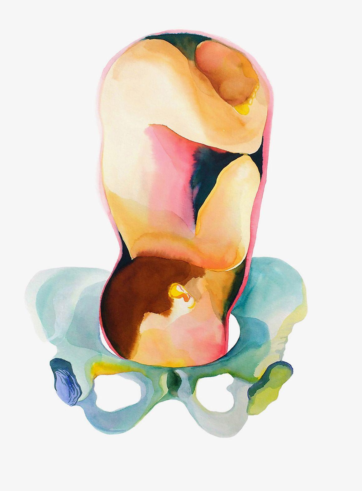 Louise Duneton                210 x 135 cm encre sur toile