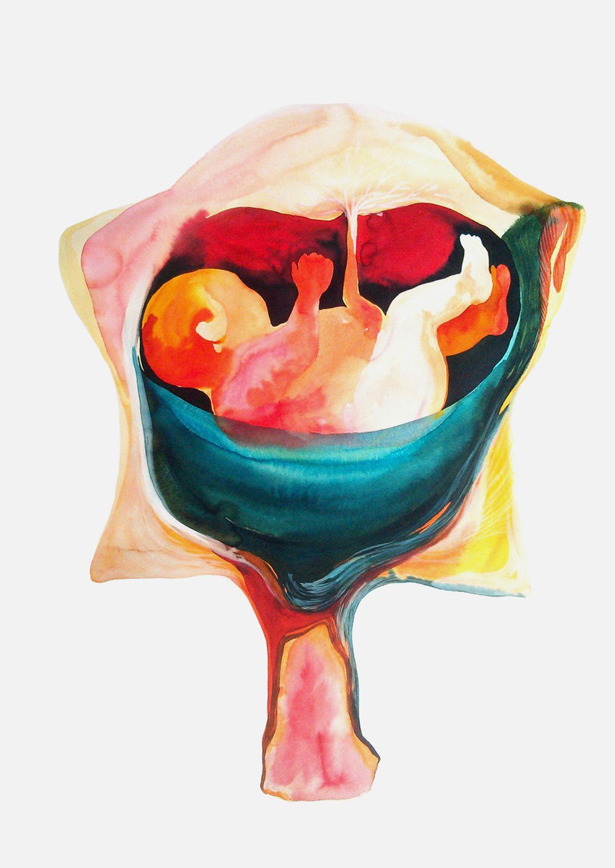 Louise Duneton                100 x 70 cm encre sur papier